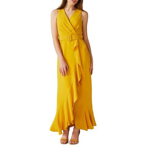 Phase Eight Yellow Lara Belted Maxi Dress