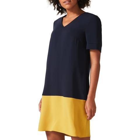 Phase Eight Navy Colourblock Jodie Dress