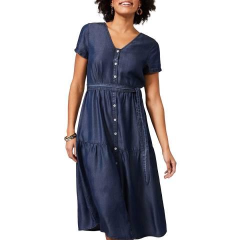 Phase Eight Blue Celia Chambray Dress