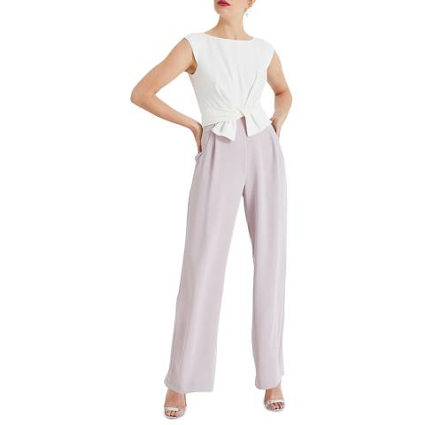 Phase Eight Ivory Janey Knot Jumpsuit