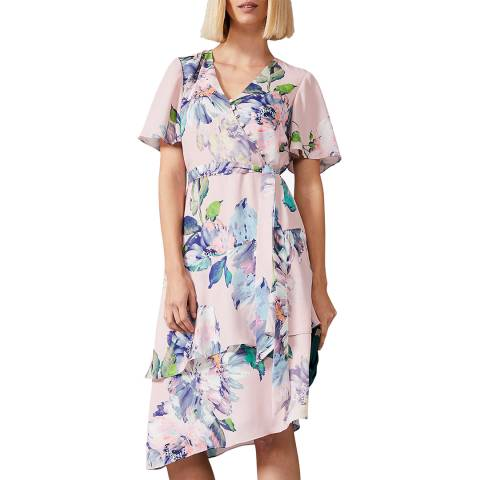Phase Eight Pink Vida Floral Dress