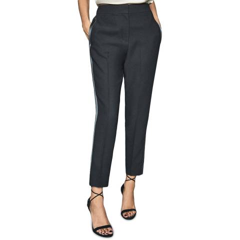 Reiss Navy Cleo Soft Tailored Trousers