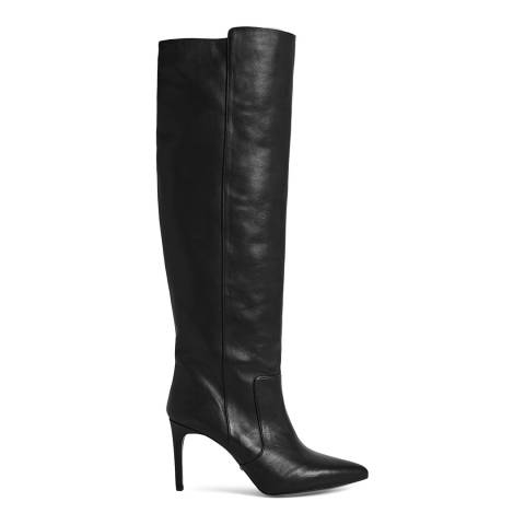 Reiss Black Zinnia Knee High Boots