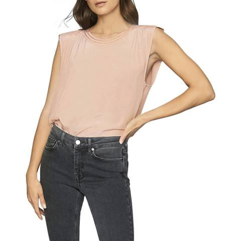 Reiss Pink Noah Sleeveless Top