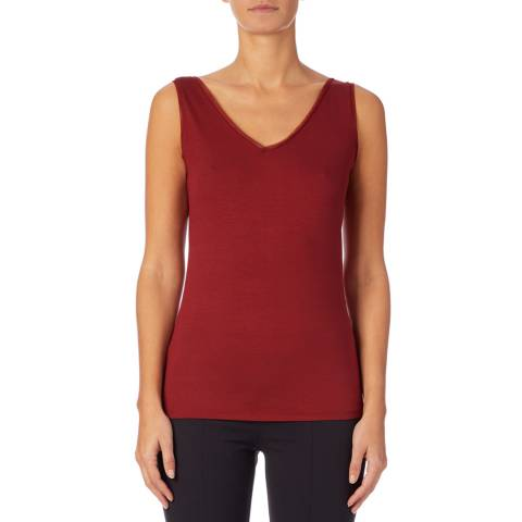 Reiss Red Ona V Neck Vest