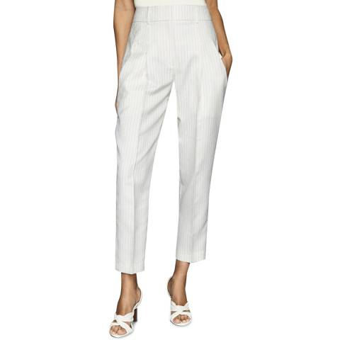 Reiss White Shelby Stripe Trousers