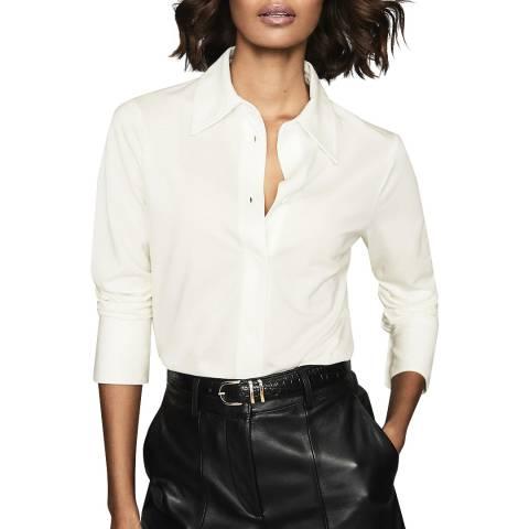 Reiss Ivory Orla Jersey Shirt