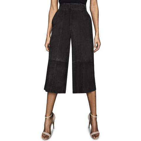 Reiss Charcoal Ottie Suede Culottes