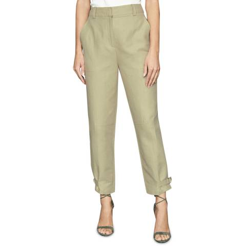 Reiss Light Green Eden Tapered Trousers