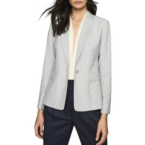 Reiss Grey Thea Wool Blend Jacket