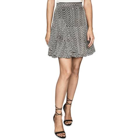 Reiss Multi Margarita Bead Print Skirt