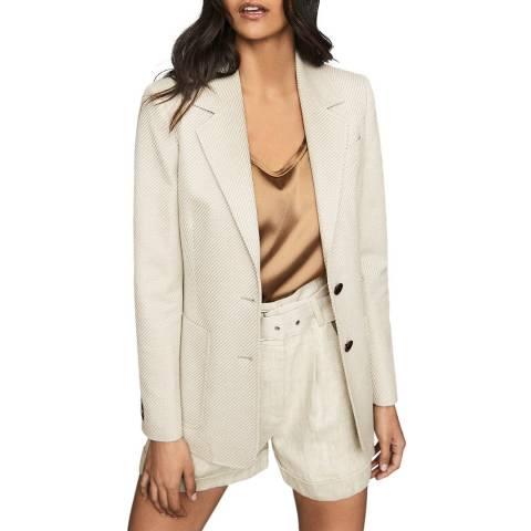 Reiss Neutral Alecia Textured Jacket