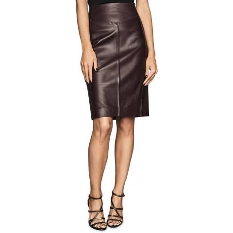 Reiss Berry Megan Leather Pencil Skirt