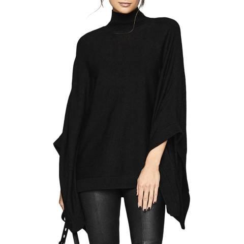 Reiss Black Lolita Batwing Wool Blend Jumper