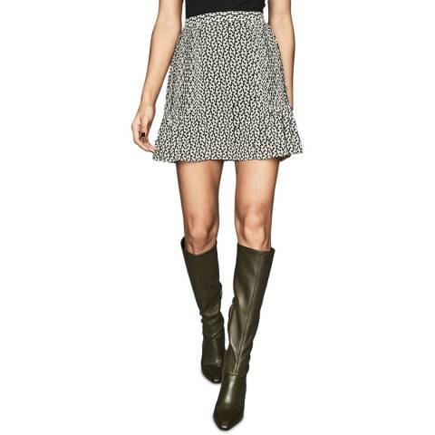 Reiss Black Print Ellie Desert Skirt