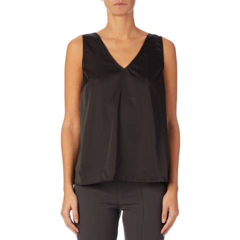 Reiss Black Jasmine Button Back Vest
