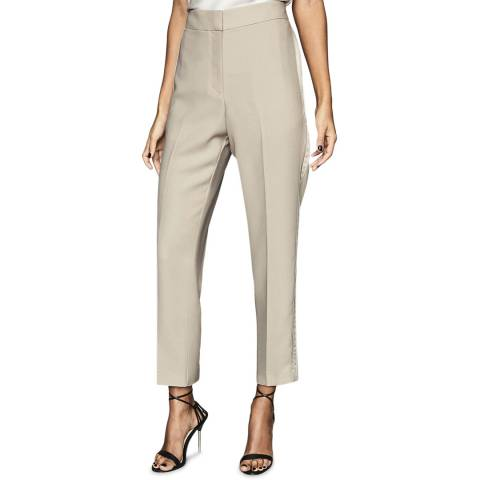Reiss Beige Cleo Soft Tailored Trousers