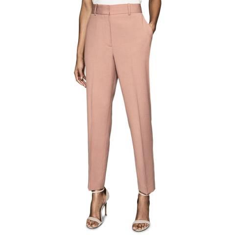 Reiss Pink Anya Formal Wool Blend Trousers