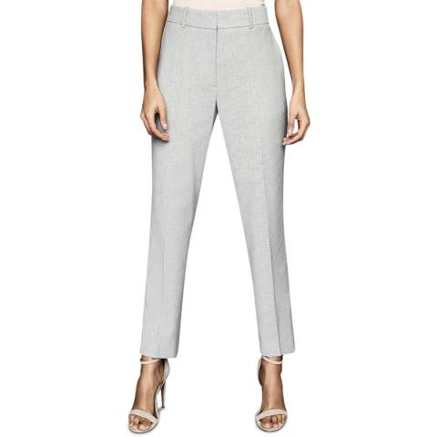 Reiss Grey Thea Slim Wool Blend Trousers