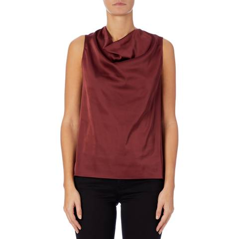 Reiss Berry Lauren Satin Cowl Neck Top