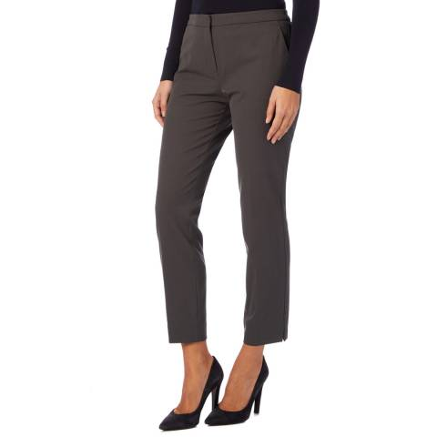 Reiss Charcoal Jos Slim Casual Stretch Trousers
