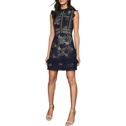 Reiss Navy Lena Lace Dress