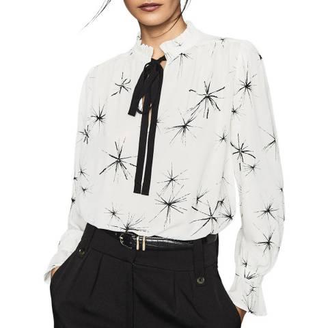 Reiss White Maeve Print Shirt