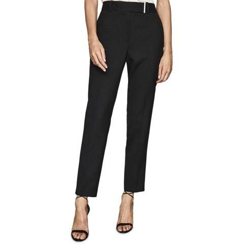 Reiss Black Arlo Slim Wool Blend Trousers