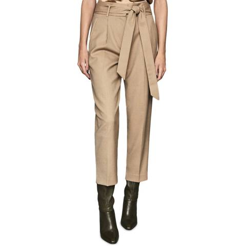 Reiss Camel Horton Wool Blend Trousers