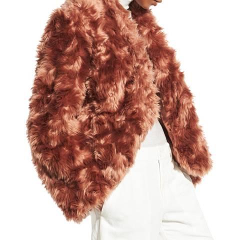 Vince Cinamon Plush Faux Fur Jacket