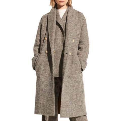 Vince Grey Pebble Texture Coat