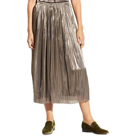 Vince Silver Pleated Culottes