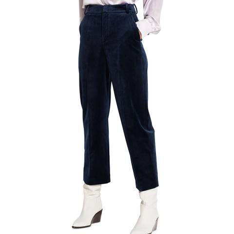 Vince Navy Straight Cropped Trousers