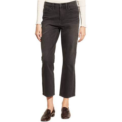 Vince Black Bootcut Cropped Stretch Jeans