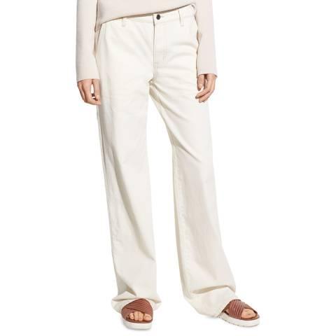 Vince Natural Carpenter Wide Cotton Jeans