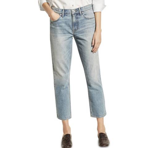 Vince Blue Tomboy Tapered Cotton Jeans