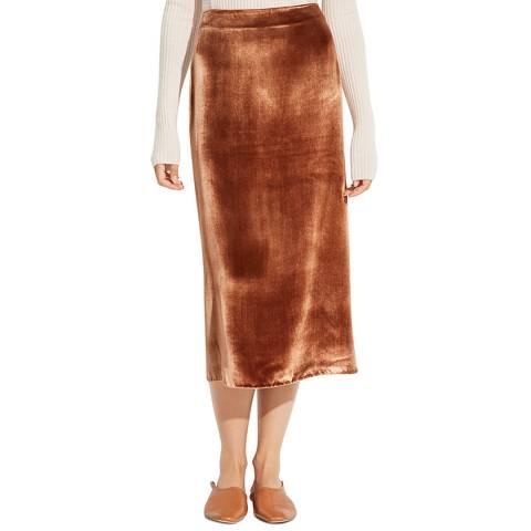 Vince Gold Panna Wrap Midi Skirt