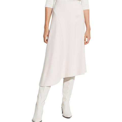Vince Cream Asymmetric Midi Skirt