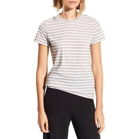Vince Grey Stripe Essential Pima Cotton T-Shirt