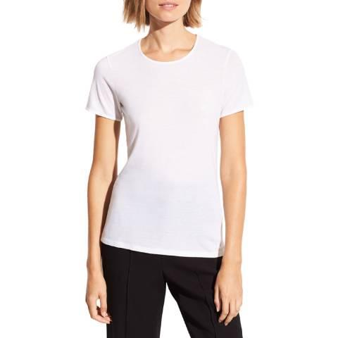Vince White Pima Cotton Blend T-Shirt