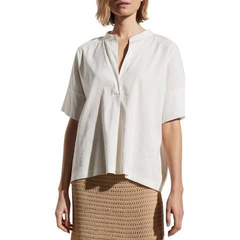 Vince White Linen Blend Shirt