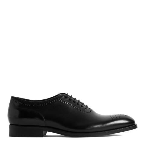 Reiss Black Alder Leather Brogues