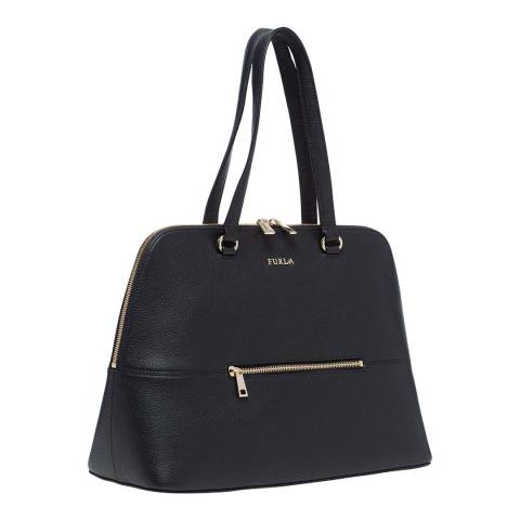 Furla Black Alex Large Dome Tote