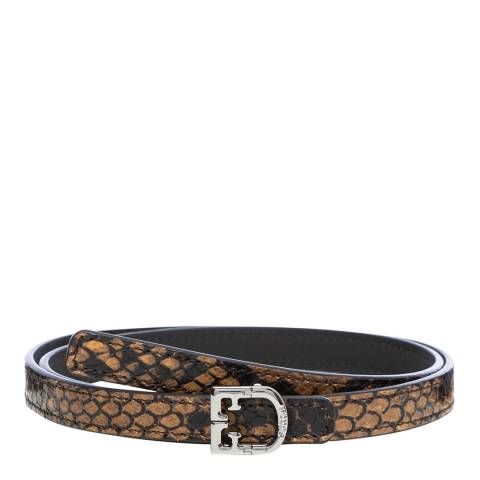 Furla Caramel Scudo Reversible Belt
