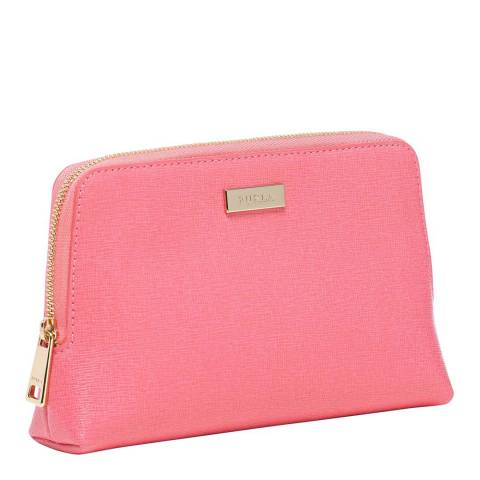 Furla Peony Gold Classic Cosmetic Case