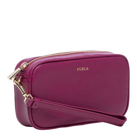 Furla Black Cherry Annie Medium Camera Bag
