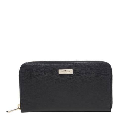 Furla Black Classic XL Zip Around Purse