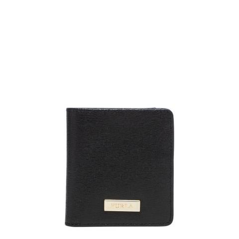 Furla Black Classic Small Bifold Card Case