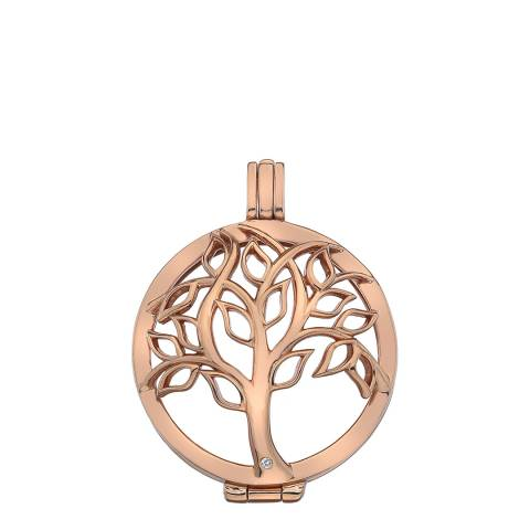 Emozioni Vita Rose Gold Plate Sterling Silver Coin Keeper - 33mm