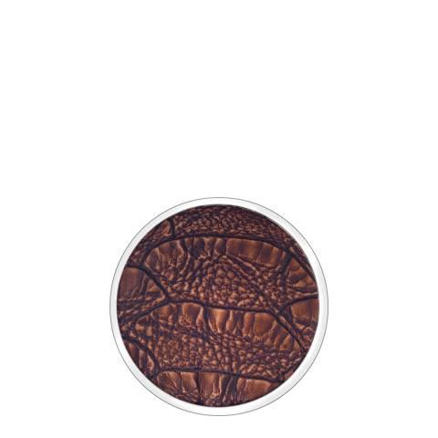 Emozioni 33mm Faux Crocodile Dark Brown Coin